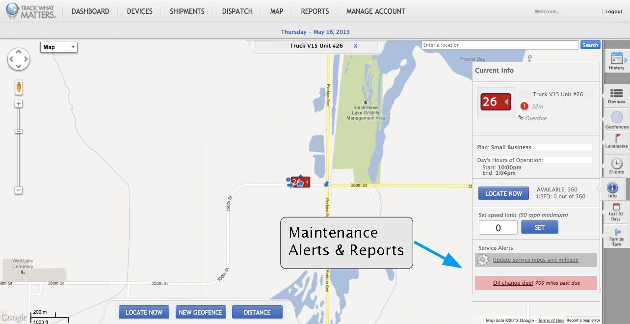 Maintenance Alerts